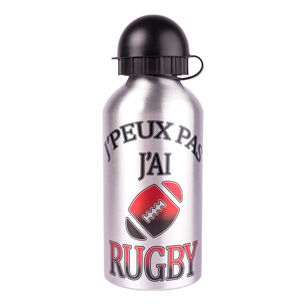 gourde metal rugby